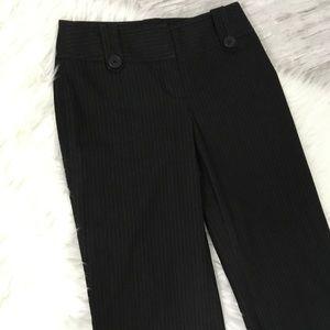 Ann Taylor Loft 0P Black Pin Stripe Pants Flare